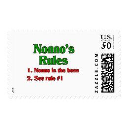Nonno's (Italian Grandfather) Rules Postage