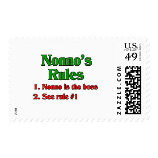 Nonno's (Italian Grandfather) Rules Postage Stamps