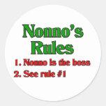 Nonno's (Italian Grandfather) Rules Sticker
