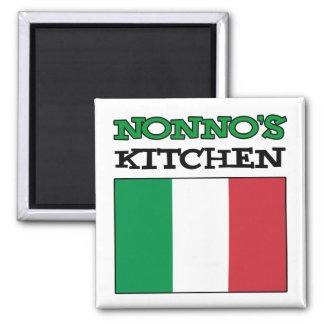 Nonno's Kitchen Italian Flag Magnet