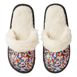 Nonpareils Slippers Pair Of Fuzzy Slippers
