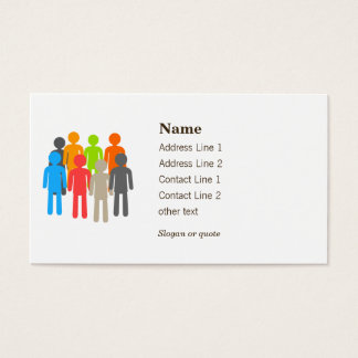 Nonprofit helping people business card