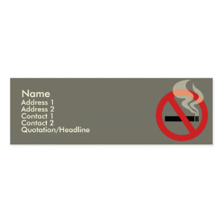 Nonsmoking - Skinny Double-Sided Mini Business Cards (Pack Of 20)