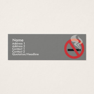 Nonsmoking - Skinny Mini Business Card