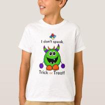 Nonverbal Halloween T-shirt Kids Autism Costume