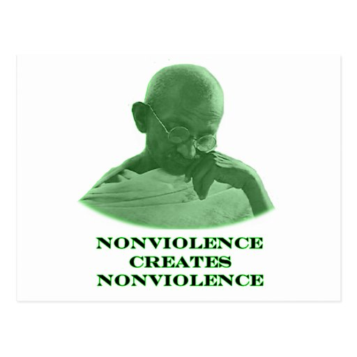 Nonviolence Green The MUSEUM Zazzle Gifts Postcard