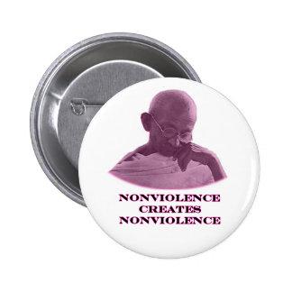Nonviolence Magenta jGibney The MUSEUM Zazzle Gift Button