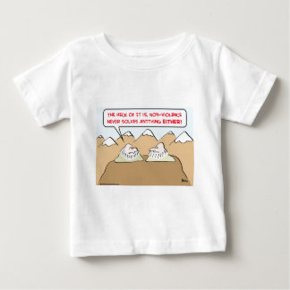 nonviolence never solves anything infant t-shirt