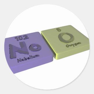 Noo as No Nobelium and O Oxygen Classic Round Sticker