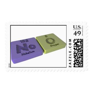 Noo as No Nobelium and O Oxygen Stamps