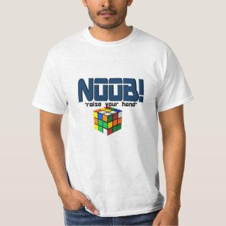 ¡NOOB! aumente su camiseta de la mano Remera