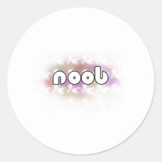 Noob! Classic Round Sticker