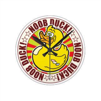 Noob Duck Round Wallclock