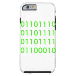 Noob en binario funda para iPhone 6 tough