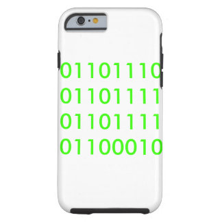 Noob in Binary Tough iPhone 6 Case