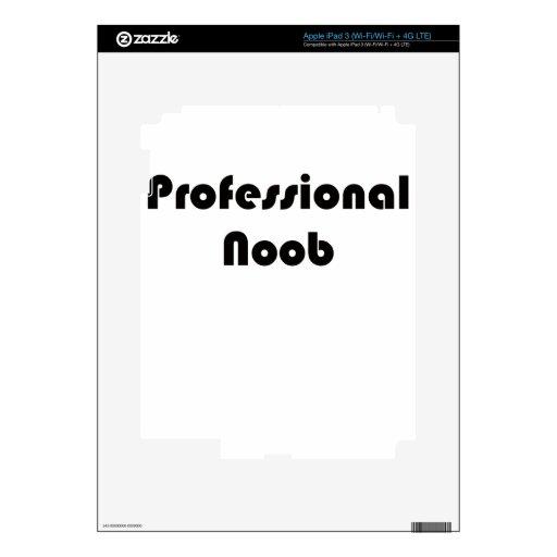 Noob profesional iPad 3 pegatina skin