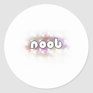 Noob! Round Sticker