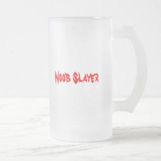 Noob Slayer Frosted Glass Beer Mug