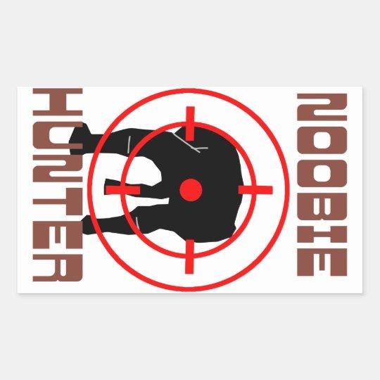 Noobie Hunter Rectangular Sticker