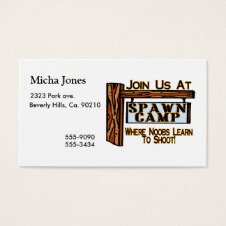 Noobs At Spawn Camp Business Card