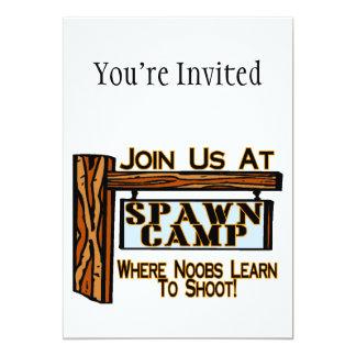 Noobs At Spawn Camp Card