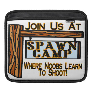 Noobs At Spawn Camp iPad Sleeves