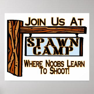 Noobs At Spawn Camp Poster