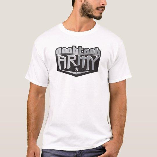NooBTooB Army White T-Shirt