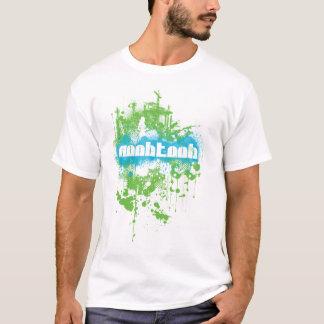 NooBTooB Grunge-BG White T-Shirt