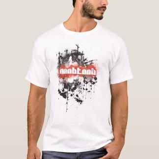 NooBTooB Grunge-BR White T-Shirt
