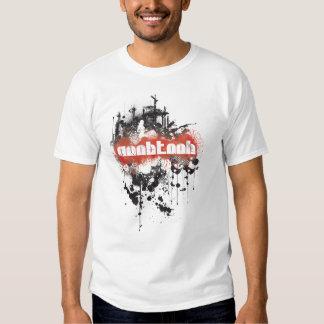 NooBTooB Grunge-BR White T Shirts