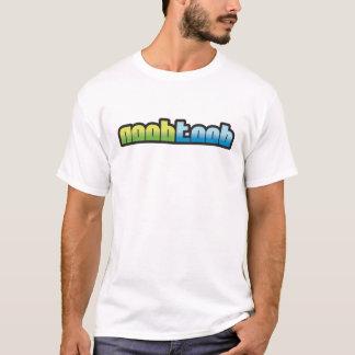 NooBTooB Logo White T-Shirt
