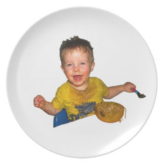 Noodle boy plate