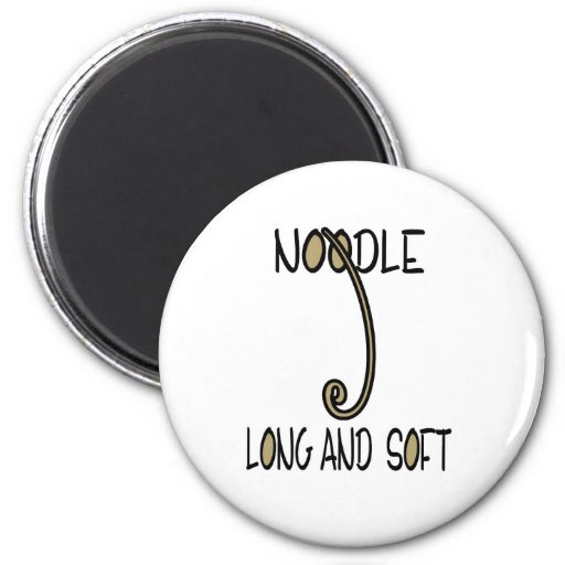 Noodle Long and Soft 2 Inch Round Magnet