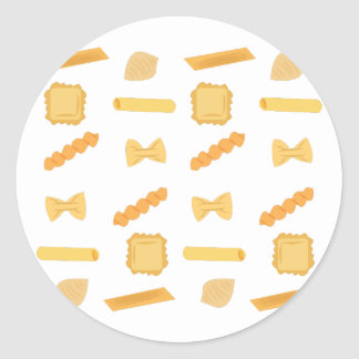 Noodle Shapes Classic Round Sticker