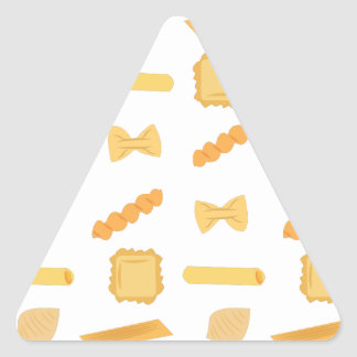 Noodle Shapes Triangle Sticker