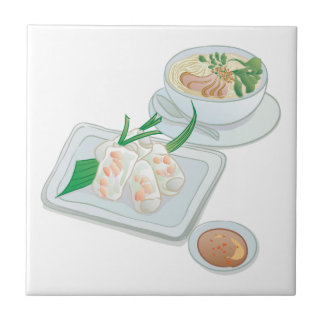 Noodle Soup Break Ceramic Tile