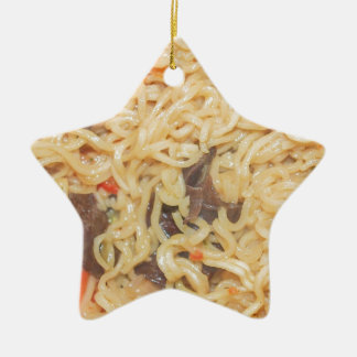 Noodles Ceramic Ornament