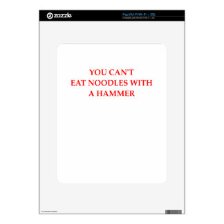 NOODLES DECAL FOR iPad