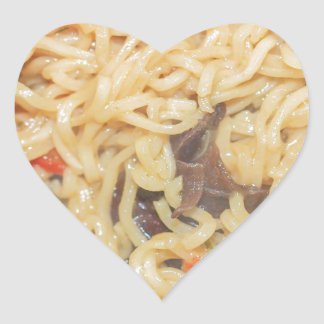 Noodles Heart Sticker