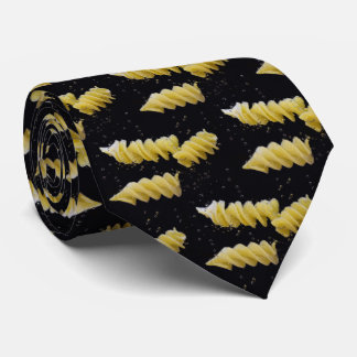 Noodles in Boiling Water Print On Necktie