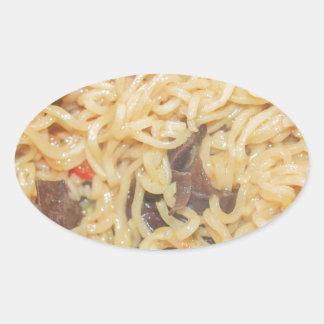 Noodles Oval Sticker