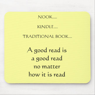 Nook Kindle traditional book Mouse Pad