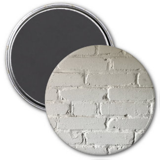 nooks and crannies white brick wall magnet