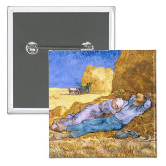 Noon, or The Siesta, after Millet, 1890 Pinback Button