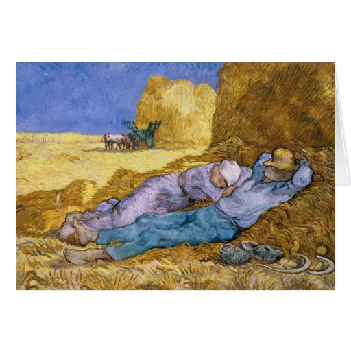 Noon, or The Siesta, after Millet, 1890 Greeting Card