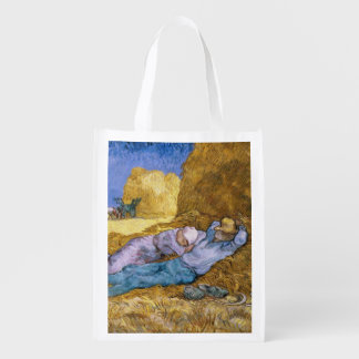 Noon, or The Siesta, after Millet, 1890 Grocery Bags