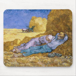 Noon, or The Siesta, after Millet, 1890 Mouse Pad