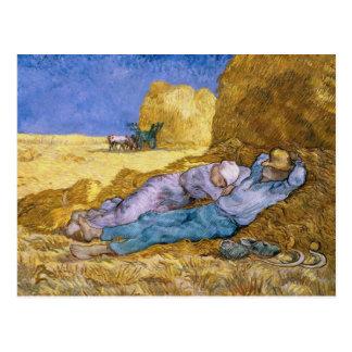 Noon, or The Siesta, after Millet, 1890 Postcard