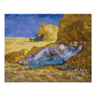 Noon, or The Siesta, after Millet, 1890 Poster